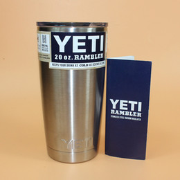 Wholesale 20 oz YETI Rambler Tumbler Travel Cars Beer Mug Double Wall Bilayer Vacuum Insulated Stainless Steel Cooler Cupser YETI Mugs