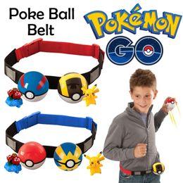 Wholesale Zorn toys Poke go Pokémon Clip N Carry Poke Ball Belt plastic poke ball action figure doll Pikachu Style random