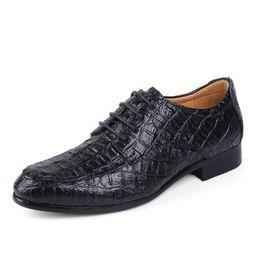 Brand Genuine Leather Oxford Shoes For Men, Casual Men Oxford, Men Crocodile Shoes, Men Dress Shoes