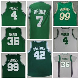 Wholesale Sale Jaylen Brown Uniforms Isaiah Thomas Al Horford Jersey Shirt Marcus Smart Jae Crowder Christmas Throwback Green White Gray