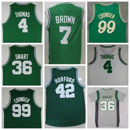 Wholesale Sale Jaylen Brown Uniforms Isaiah Thomas Al Horford Jersey Shirt Marcus Smart Jae Crowder Christmas Throwback Green White Gray