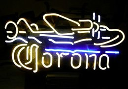 CORONA PLANE BEER BAR NEON LIGHT SIGN Real Glass Neon Light Sign Home Beer Bar Pub Recreation Room Game Room Windows Garage Wall Sign