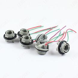 cheap universal car wiring harness shipping universal car car led 1156 7506 7528 ba15s p21w wiring base socket led bulbs turn signal lights harness plugs connectors