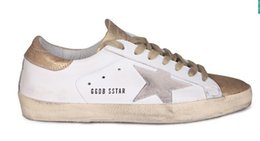 Wholesale Deluxe Brand Golden Goose Pelle Superstar Casual Shoes Genuine Leather Men Women GGDB Blue Shoes Original Scarpe Bass