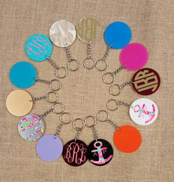 Wholesale Personalized Acrylic Blank Key Chain Ready for Vinyl Monogram in stock