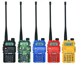 Wholesale 2016 News BaoFeng UV R CB radio professional walkie talkie transceiver baofeng uv5r W Dual Band Radio VHF UHF colors