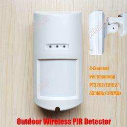 Wholesale Outdoor Wireless Element Pet Immunity PIR Passive Infrared Intrusion Motion Detector IP65 Waterproof Intrude Sensor Pet Immune