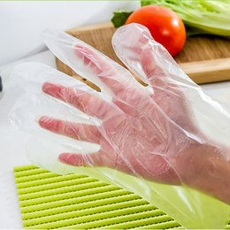 HOT 100PCS LOT NEW Eco-friendly Disposable Gloves PE Garden Household Restaurant BBQ Plastic Multifuctional Gloves Food