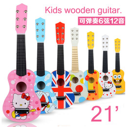 Wholesale TIANS YY1006 feet strings Kids wooden guitar toy musical simulation instruments toys birthday gifts