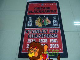 100% polyester 90*150cm,chicago blackhawks flag,stanley cup , club,Digital Printing,