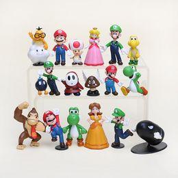 20set ot Super Mario Bros yoshi Figure dinosaur toy 18PCS Super mario yoshi figures PVC
