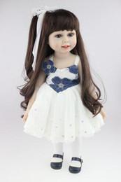 Wholesale The Cutest Fashion Lifelike Baby Inch American Girl Doll PlayToy BDG67 Eco friendly Brinquedos Meninas Bathing DIY Doll Cheapest Doll