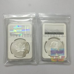 Wholesale 1PCS OZ Fine Silver Canada Maple Leaf Silver Plated Coins Canadian Dollar In PCCB Case