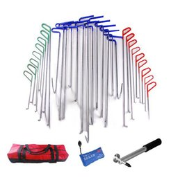 Wholesale PDR Rods With Hooks Auto PDR Toolkit Auto Paintless Dent Repair Hand Tool Pump Wedge Dent Hammer