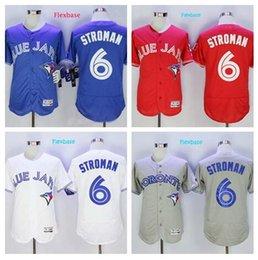 Wholesale 2016 Marcus Stroman Jersey Toronto Blue Jays Marcus Stroman Flexbase Jerseys de béisbol azul rojo blanco gris crema