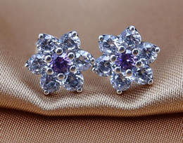 Earrings 100% 925 sterling silver stud earrings with clear CZ fitS for pandora charms jewelry DIY women gift wholesale 2016 NEWEST