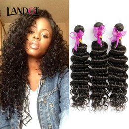 Brazilian Deep Wave Curly Virgin Hair Weaves Bundles 8A Unprocessed Peruvian Malaysian Indian Cambodian Mongolian Remy Human Hair Extensions