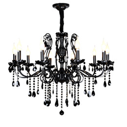China chandelier light modern ceiling chandeliers modern black glass chandelier living room beautiful crystal chandeliers with black crystal