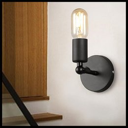 Wholesale AC110V V American country Nordic Loft Wall mounted balcony corridor lighting retro nostalgia simple Wall lamps sconces applique murale