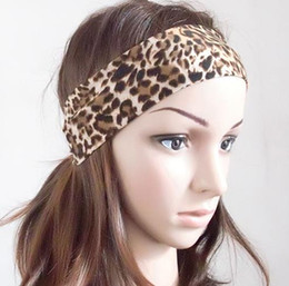 Boutique leopard print elastic headband hairbands women sports yoga hair accessories head wrap hair band wristband hair bobble headwear gift