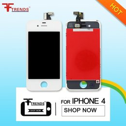 For iPhone 4 touch screen & Frame Full set Assembly high quality OEM screen lcd Free Shipping DHL