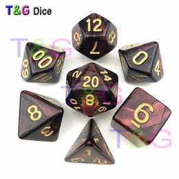 Dark Red & Black Dice DND Die Toys For Adults Kids Plastic Cubes Special Birthday Gift
