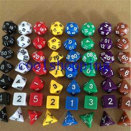 7pcs Set Multi Sides Dice Pop for Game Gaming