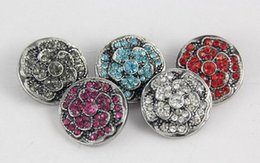 zinc alloy noosa chunks 18mm 20mm giner button snap button noosa button rose button mix color jelwery charms fit snap bracelet necklace