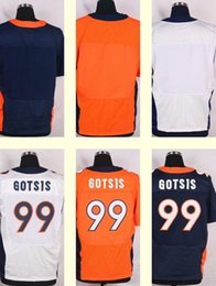 Wholesale 2016 New Men s Adam Gotsis Blank Blue white orange Top Quality jerseys Drop Shipping