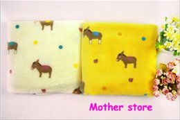 Wholesale 10pcs New style Y baby kids coral fleece horse blanket cm cm newborn girl boy soft material outfit blanket