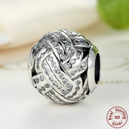 Original 925 Sterling Silver Charms Love Knot with Clear Cubic Zirconia for Pandora Style Bracelets S303