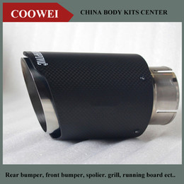 Wholesale One mm Inlet mm Outlet Akrapovic exhaust tip Universal Carbon Fiber Car Exhaust Pipe Tail Muffler Tip