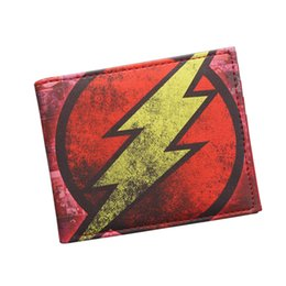 Factory Sale Original Brand Anime Wallet Avengers MB The Flash Lightning Man Wallet Leather Short Bifold Dollar Bag Retro Comics Wallet Boy