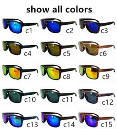 Wholesale Hot sell New men s Bicycle sunglasses Rivets sunglasses Wood grain sports sunglasses colors choose DHL Shipping