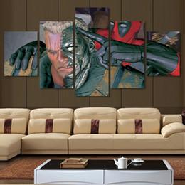 5 Pcs Deadpool Comic Painting Modern Wall Art Canvas Printed Painting On Canvas Wall Art Cuadros Decoracion (Unframed)
