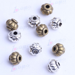 Wholesale mini lantern Spacer bead charm mm antique silver bronze Zinc Alloy for DIY pendant Jewelry Making Accessories