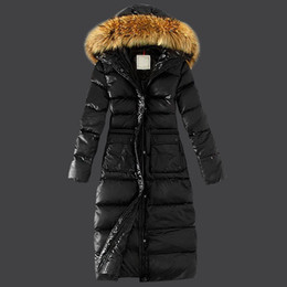Winter Jacket Outdoor Parka Real Rabbit Fur Collar White Duck Duvet Button And Zipper Long Coats