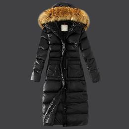 Winter Jacket Outdoor Parka Real Rabbit Fur Collar White Duck Duvet Button And Zipper Long Coats
