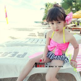 Wholesale Sexy Kids Bathing Suit - kids swimming suits for girls Leotards with skirt sexy tankini swimsuits swimwear dresses bathing suits with shorts cute bikini