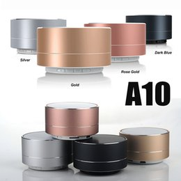 Wholesale A10 Wireless Bluetooth Speakers LED Flash Aluminum Alloy Mini Portable Speaker Smart Hands Free Speaker With FM Support SD Card Heavy Bass