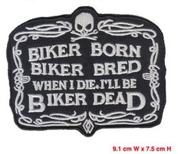 Embroidery patches cool skull hot cut iron on 75%emb 1pcs lot cheap price welcome custom your logo free shipping patch