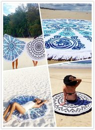 Wholesale 2016 Hot Styles Superfine Fiber Round Beach Towel cm Beach Swim Towels Bohemia Style Bikini Covers Blankets ELT031
