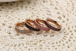 Wholesale Color Cryolite New Korean Fashion Titanium Steel Rings Rose Gold Plated Finger Ring Tail Ring Female Alabaster