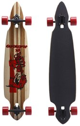 Wholesale Lovesporter Professional Drop Through Longboard Bamboo Maple Complete Skateboard quot