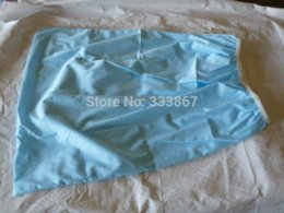 Wholesale Light Blue Pail Liner para pañales de tela Pañal Insertar PUL Large Wet Bag Elástico Lavable Impermeable