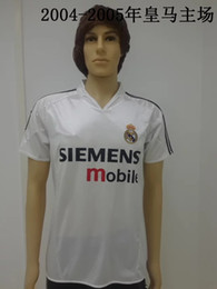 Wholesale New Real Madrid retro jersey white Real Madrid restoring ancient home shirt Real Madrid ancient classic white T shirt