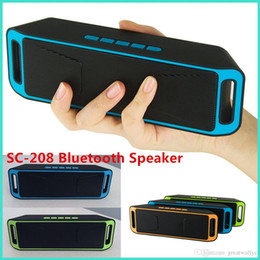 Boîte de haut-parleur de radio à vendre-SC-208 Bluetooth Mini haut-parleur sans fil A2DP haut-parleurs portables stéréo Hifi Radio FM Sound Box mains libres Soutien TF VS BT808 BT50
