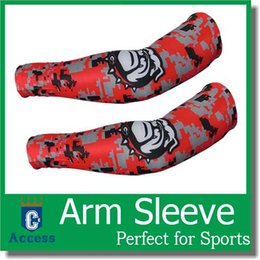 Wholesale Baseball Golf Basketball Sport Shooting Sleeve Stretch Wristband Arm Band Sleeve Sport Sun UV Protection Bicycle Armwarmers color size