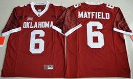 Wholesale Oklahoma Sooners Baker Mayfield Men College Limited Football Jersey Crimson Mens Rugby Jerseys Men s American football