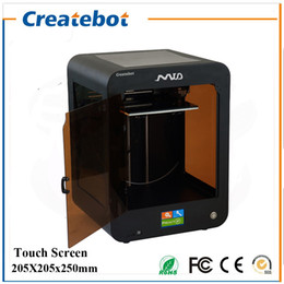 Wholesale FDM Createbot MID D Printer mm Printing Size full assembled desktop d printer Kit Touch Screen Dual Extruder With Heatbed
